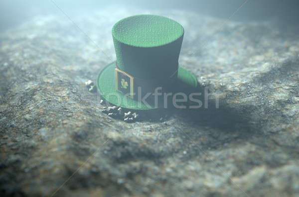 Lost Tiny Leprechaun Hat  Stock photo © albund