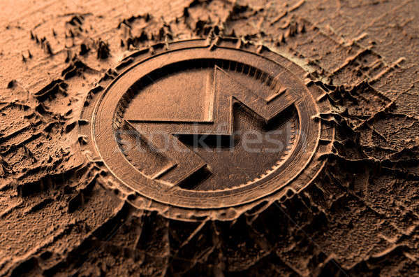 Cryptocurrency Casting Monero Stock photo © albund
