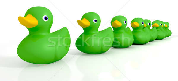 Your Toy Rubber Ducks In A Row Stock photo © albund