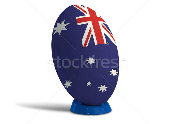 Australijczyk rugby ball kolory banderą Zdjęcia stock © albund
