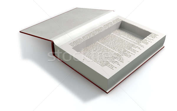 Concealed Cavity In A Book Front Stock photo © albund