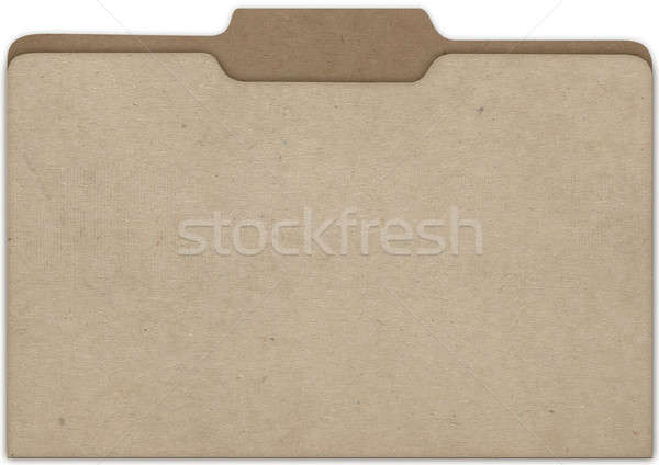 File Cardboard Front Stock photo © albund