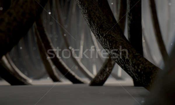 Microscópico cabelo 3d render ver Foto stock © albund