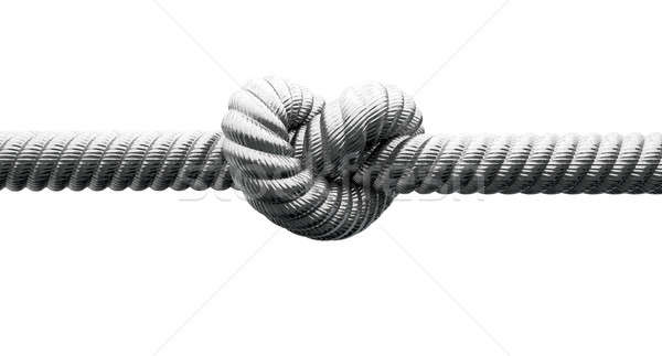 Steel Cable With Knot Closeup Stock photo © albund