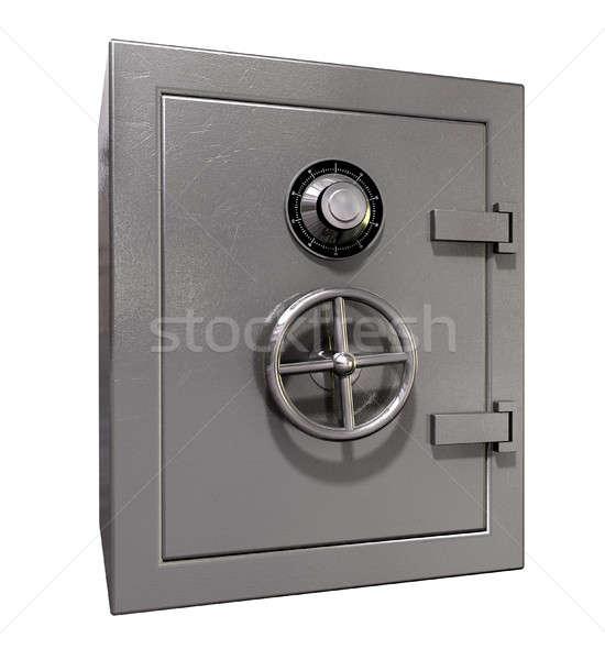 Bezpieczne zamknięty metal odizolowany biały ceny Zdjęcia stock © albund