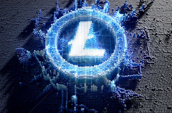 Pixel Litecoin Concept Stock photo © albund