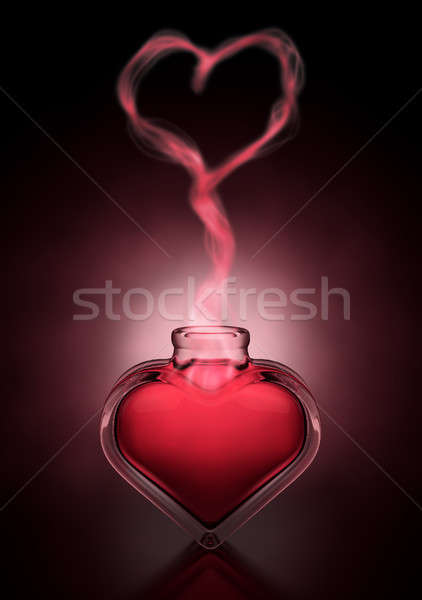 Love Potion And Heart Fumes Stock photo © albund