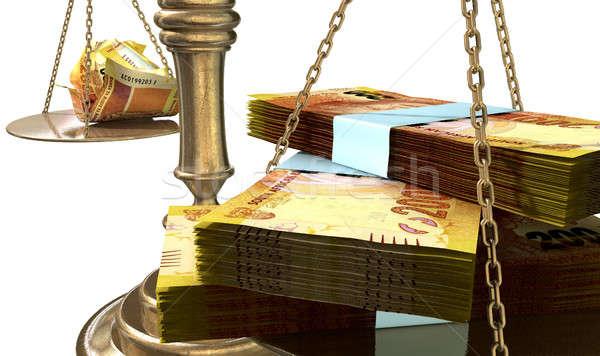Mérleg igazság jövedelem hézag dél Afrika Stock fotó © albund