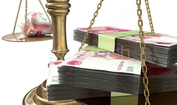 Stock photo: Inequality Scales Of Justice Income Gap China