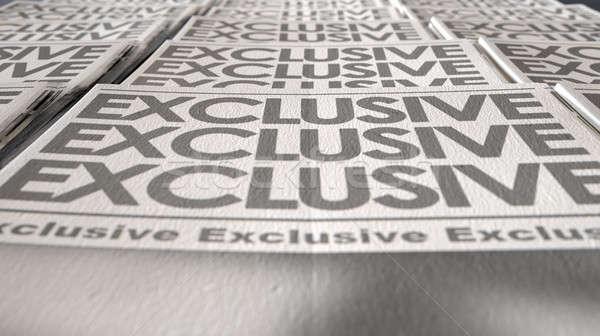 Newspaper Exclusive Press Run End Stock photo © albund