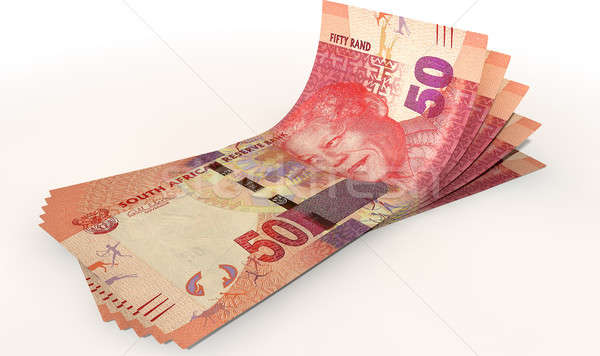 Rand Bank Notes Spread Stock photo © albund
