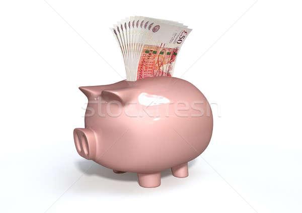 Piggy Bank Saving British Pounds Stock photo © albund