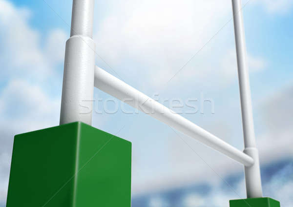 Rugby Posts Stadium Day Stock photo © albund