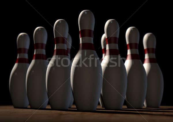 Ten Pin Bowling Pins Stock photo © albund