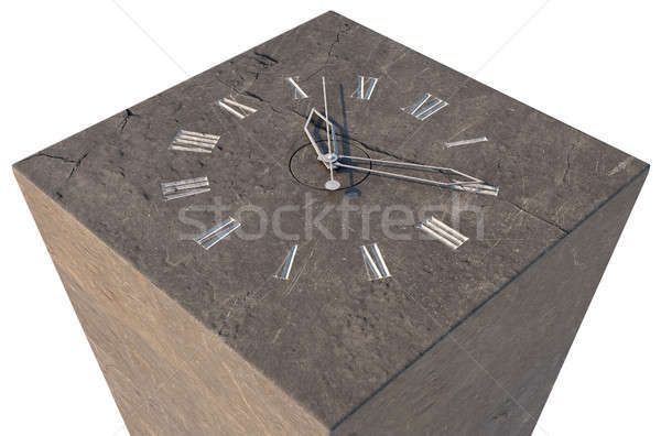 Stock photo: Clock On Stone