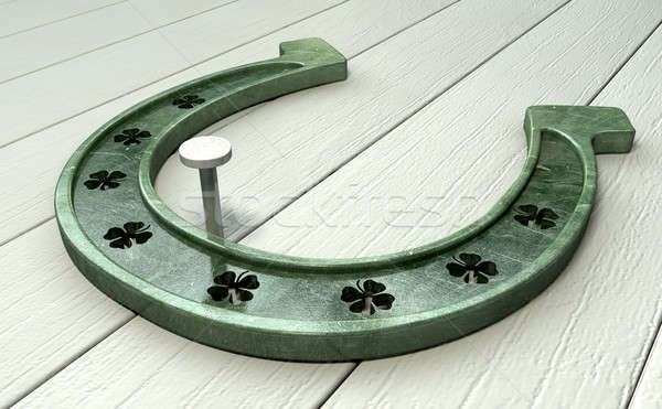 Lucky Horseshoe Stock photo © albund