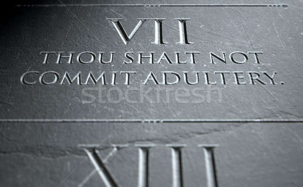 The Seventh Commandment Stock photo © albund
