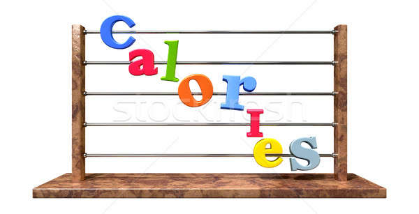 Calorie Counting Abacus Stock photo © albund