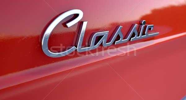 Classic Chrome Car Emblem Stock photo © albund