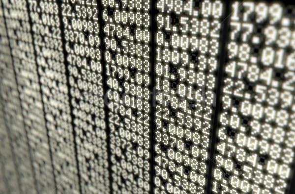 株式市場 デジタル ボード セクション インジケータ 数の ストックフォト © albund
