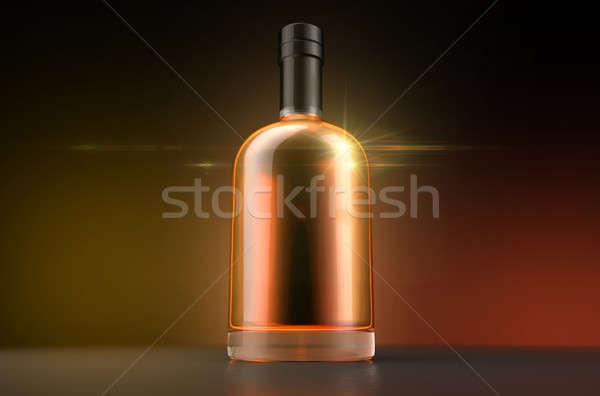 общий алкоголя бутылку алкогольные напитки темно Сток-фото © albund