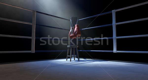 Boxing Corner And Boxing Gloves Stock photo © albund