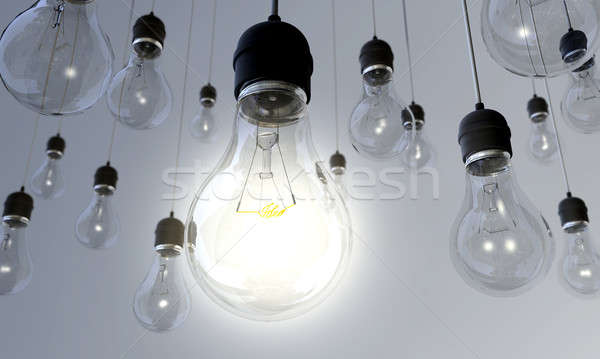Light Bulb - Switched On Stock photo © albund