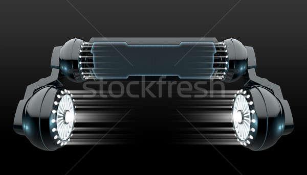 Robot kirakat mechanizmus fekete futurisztikus robotikus Stock fotó © albund