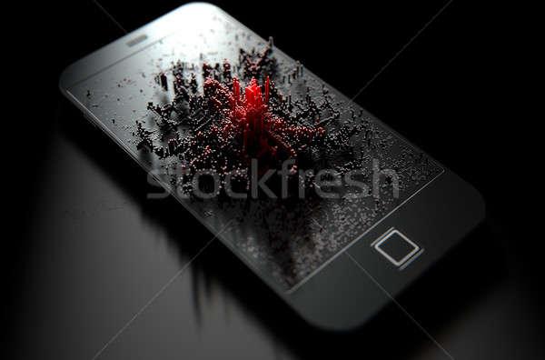 Infecção 3d render moderno tela Foto stock © albund