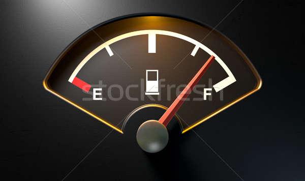 Gas Gage Illuminated Full Stock photo © albund