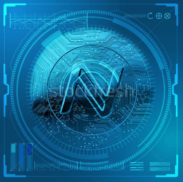 Cryptocurrency Namecoin Futuristic Stock photo © albund