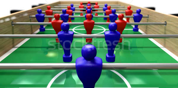 Foosball Table Perspective  Stock photo © albund