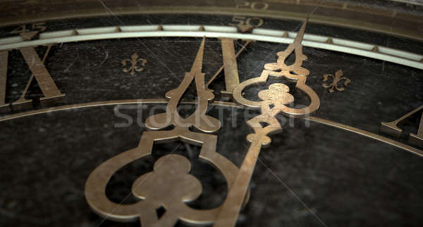 Antique Clock Macro Stock photo © albund
