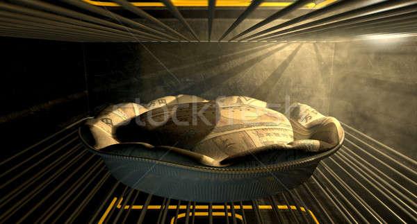 Japanese Yen Money Pie Baking In The Oven Stock photo © albund