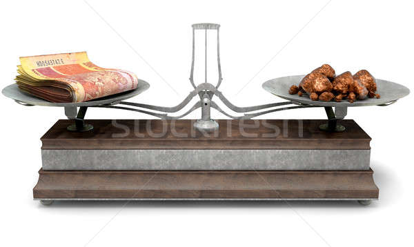 Stock photo: Balance Scale Comparison