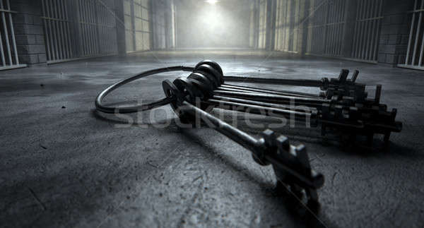 Jail Cell With Keys Stock photo © albund