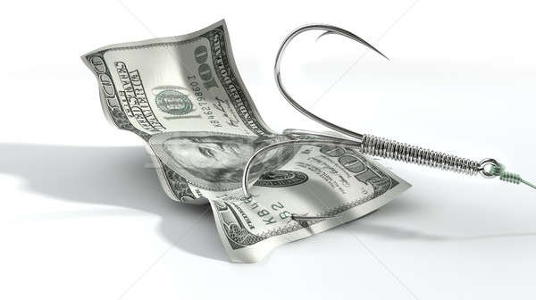Dollar Banknote Baited Hook Stock photo © albund