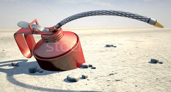 Oil In The Desert Stock photo © albund