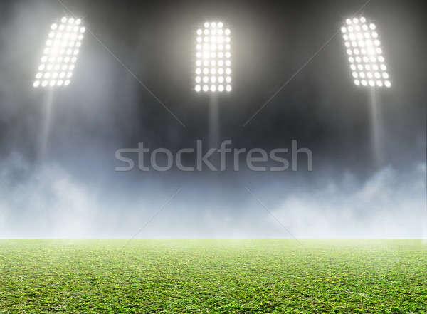 Stadion outdoor algemeen groen gras toonhoogte Stockfoto © albund