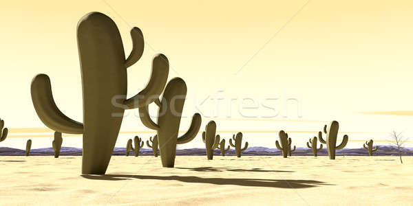 Cartoon Desert Scene Stock photo © albund