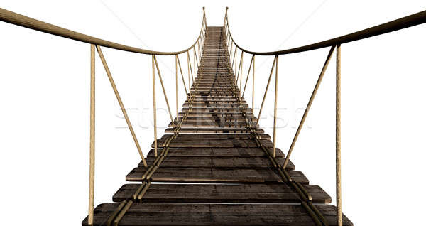 Rope Bridge Close Up Stock photo © albund