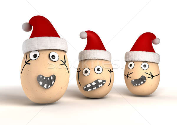 Christmas Eggs Stock photo © albund