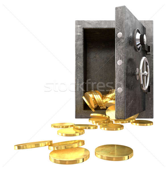 Safe Spilling Coins Front,  Stock photo © albund