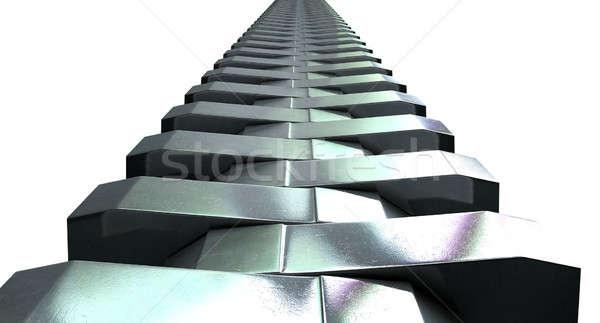 Zipper Teeth Perspective Stock photo © albund