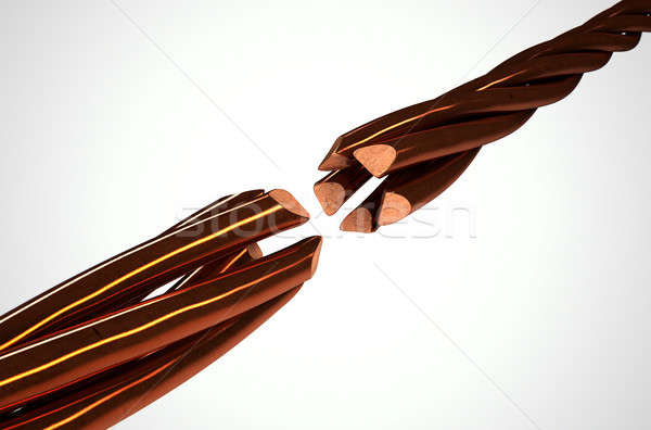 Copper Wire Strands Disconnected Stock photo © albund
