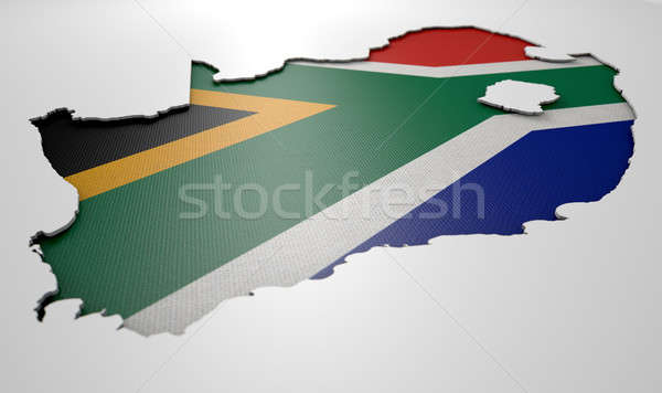 Recessed Country Map South Africa Stock photo © albund