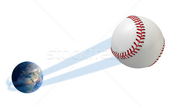 Earth With Ball Swoosh Isolated Stock photo © albund