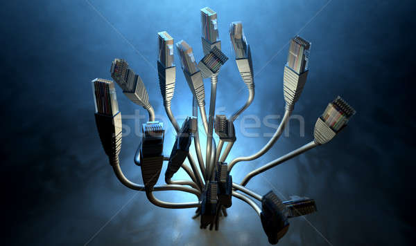 Ethernet abstract sagome bouquet raccolta insieme Foto d'archivio © albund