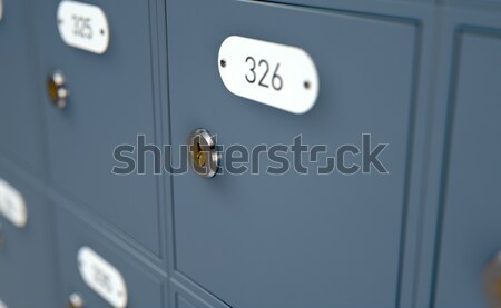Oficina de correos cajas 3d banco mail metal Foto stock © albund