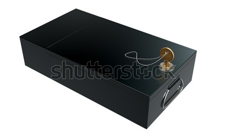 Black Safe Deposit Box Stock photo © albund